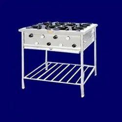 Stainless Steel 4 Burners Comercial Four Range Burner, For Commercial