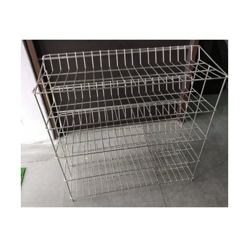 Aggarwal Gold Silver Stainless Steel Shoe Racks, 5, For For Shoes Storing