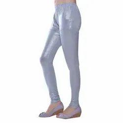 Ladies Silver Shimmer Leggings