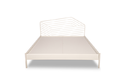 Godrej White Liva Queen Bed With Illusion Headboard- Without Storage