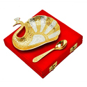 Silver & Gold Plated Peacock Platter