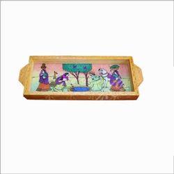 Isha Art Wood Gem Stone Painting Trays, Size: 8x10 Inches