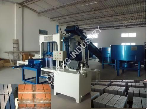 Chirag Grey Automatic and Semi-Automatic Wall Brick Making Machine