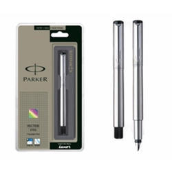 Parker Vector CT Fountain Pen, Stainless Steel