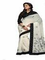 Black And White Fancy Cotton Saree