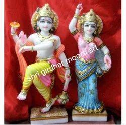 Dancing Marble  Vishnu Laxmi Statue