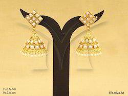 Metal Alloy Golden Kemp Earrings