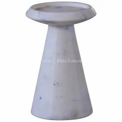 Prime White Marble 4 Candle Stand