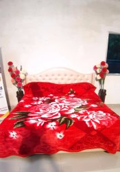 Double Bed Super Red Gullivar Blankets