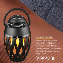 Black 5.1 Flame Bluetooth Speaker
