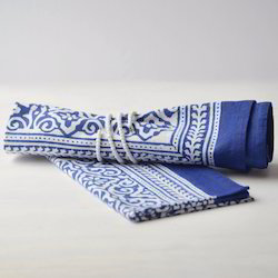 Cotton Printed Napkins, Size: Standard