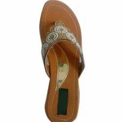 Daily Wear Ladies Flat Fancy Slipper, Size: 4 - 8 Uk