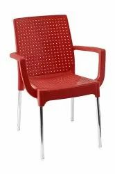 Ilatica Plasteel Cafeteria Chair With Arms