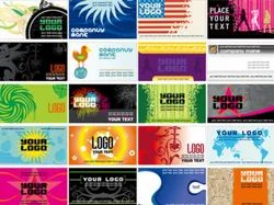 Multicolor Visiting Cards