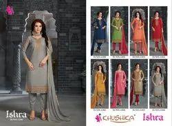 Khushika Embroidery Churidar Suit