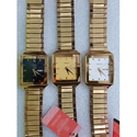 Crony Men Casual Gold Tone Wrist Watch