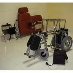 Detachable Backrest And Folding Electric Power Wheelchair