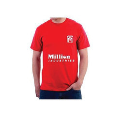 Red Male Promotional Round Neck T-Shirt