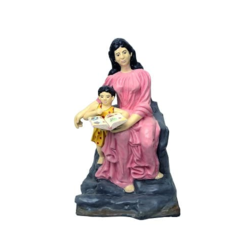 Lady With Child Statue