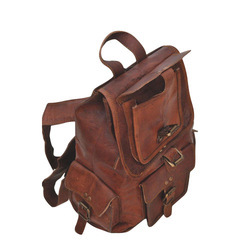 Unisex College Leather Backpacks