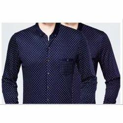 Full Sleeves Men''S Dark Blue Formal Shirt, Packaging Type: Box
