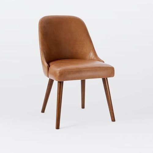 Brown Leather Dining Chair, Brown Leather Dining Chair