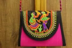 Cotton Embroidered Decorative Embroidery Side Bag