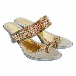 Ladies Party Wear Heels Sandal, Size: 5-7