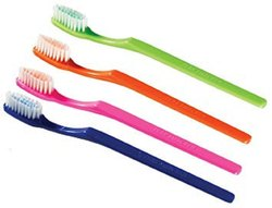 15-40 Years Medium Plastic Toothbrush, For Tooth Cleaning