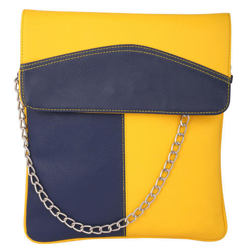 783bf82fd72 Ladies Yellow And Blue Sling Bag