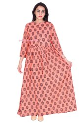 Cotton Long Anarkali Pattern Kurtis