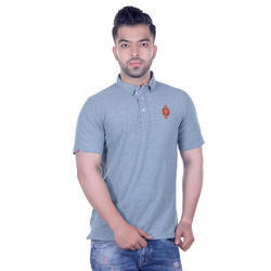 Men Solid Polo Collar T-Shirt