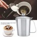 Metal Silver Stainless Steel Frothing Pitcher, For Home, Capacity: Standard