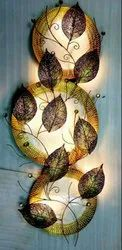 Metal Wall Decor Leaves Iron Decor With LED Lights Leaves