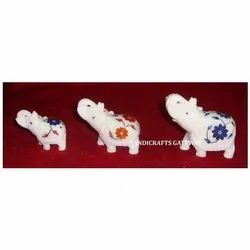 Corporate Gift Marble Inlay Elephant