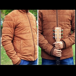 Suede Quilted Jacket