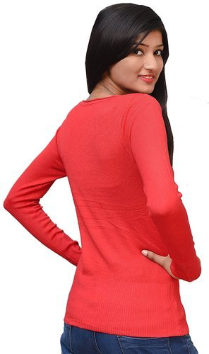 052119f7bfacef RED Free Size Otia Woolen Top For Ladies Women, Rs 380 /piece | ID ...