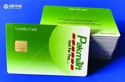 Rectangular Multicolor Gift Card For Retail Store
