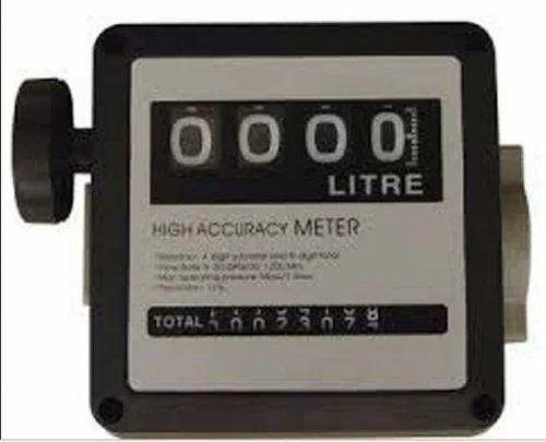 Black Mechanical/Digital Turbine Oil Flow Meters   ID