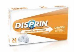 Disprin Orange Vitamin C Tablet, Packaging Size: 24 Tablet