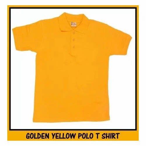 9c77b5b4 Cotton Mens Golden Yellow Polo T Shirt, Rs 220 /piece, RSM Uniforms ...