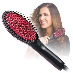 Deodap Simply Hair Straightener Straight Ceramic Hair Straightener Brush Perfectly Straight Hair