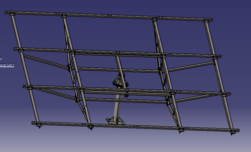 AKURA Steel Single Pole Solar Panel Mounting Structure For 8 Panels
