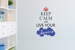 PVC Vinyl Wall Ons Keep Calm Dreams Wall Sticker, Size: 30.48cm X 76.20cm