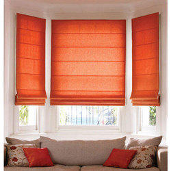 Orange Roman Fabric Roman Blind