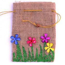 Personalized Jute Pouch