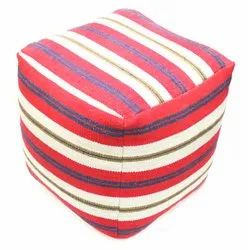 Cubical Cotton Ottoman Pouf Stools