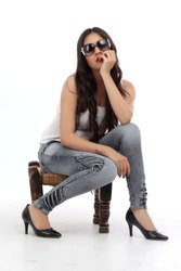Stretchable Missie Denim Ladies Ankle Denim Jeans, Waist Size: 28-40, Packaging Type: Packet