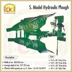 Iron S Model Hydraulic Plough for Agriculture, Size: 13 Tire To 16 Tire