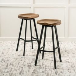 Unique Stool With Wood Top